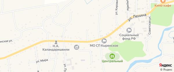 Северный переулок на карте села Кырена с номерами домов