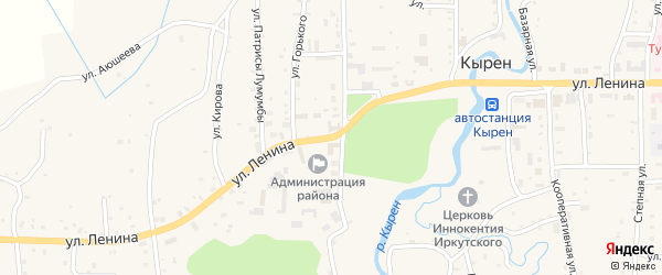 Улица Ленина на карте улуса Могой-Горхон с номерами домов
