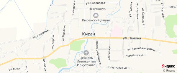 Карта села Кырена в Бурятии с улицами и номерами домов