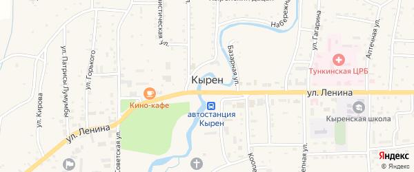 Горхонский переулок на карте села Кырена с номерами домов