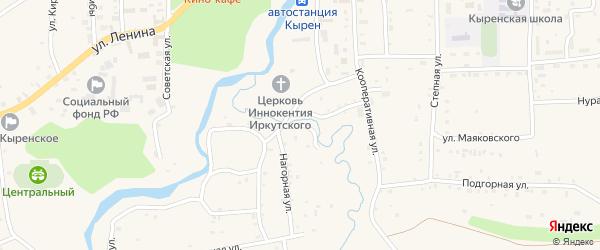 Овражный переулок на карте села Кырена с номерами домов