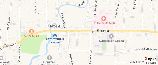 Осенний переулок на карте села Кырена с номерами домов