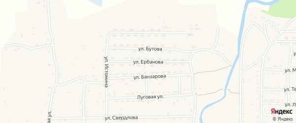 Улица Ербанова на карте села Кырена с номерами домов