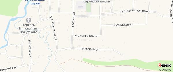Улица Маяковского на карте села Кырена с номерами домов