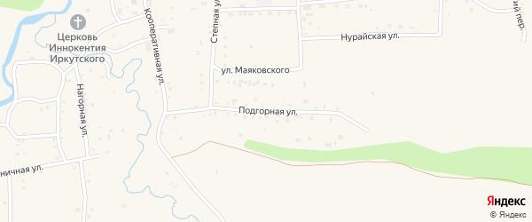 Подгорная улица на карте села Кырена с номерами домов