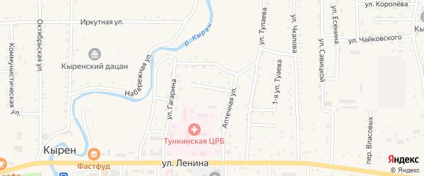 Улица Бобоева на карте села Кырена с номерами домов