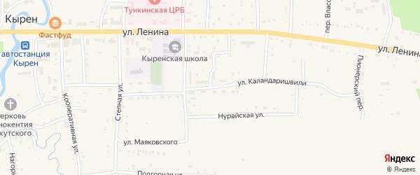 Улица Каландаришвили на карте села Кырена с номерами домов