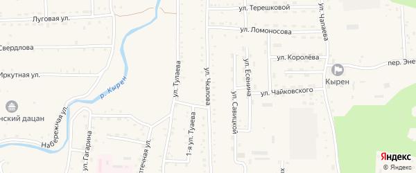 Улица Чкалова на карте села Кырена с номерами домов