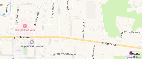 Строительная улица на карте села Кырена с номерами домов