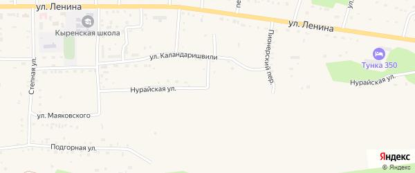Нурайская улица на карте села Кырена с номерами домов