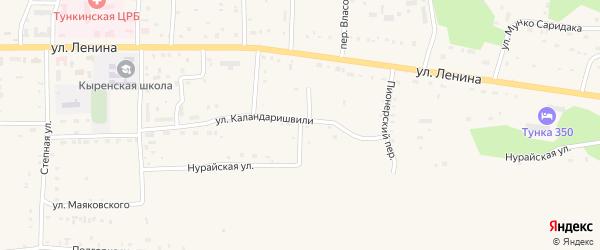 Рабочий переулок на карте села Кырена с номерами домов