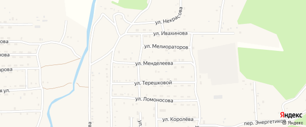 Улица Менделеева на карте села Кырена с номерами домов