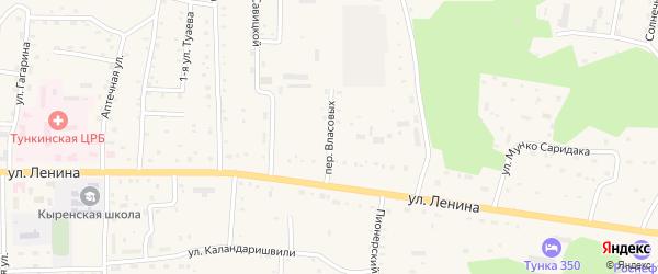Переулок Власовых на карте села Кырена с номерами домов