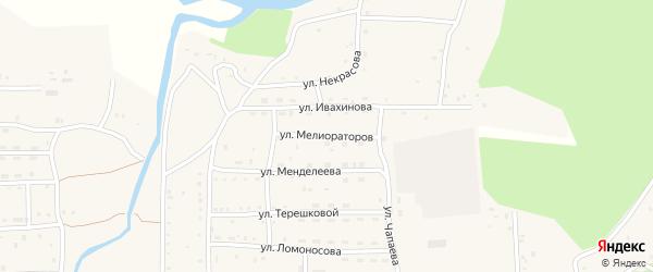 Улица Мелиораторов на карте села Кырена с номерами домов