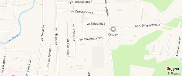 Улица Чайковского на карте села Кырена с номерами домов