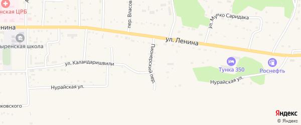 Пионерский переулок на карте села Кырена с номерами домов