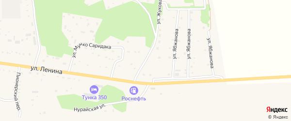 Улица Жукова на карте села Кырена с номерами домов