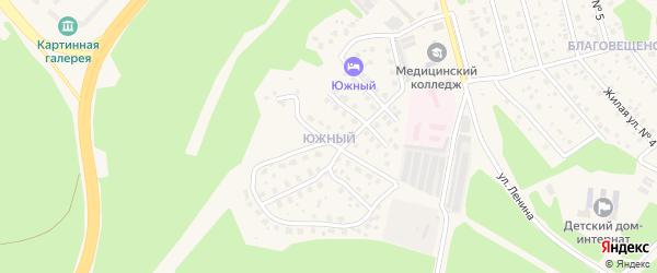Южный микрорайон на карте Саянска с номерами домов