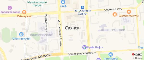 Лесной проезд на карте Саянска с номерами домов