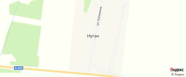 Улица Калинина на карте улуса Нуган с номерами домов