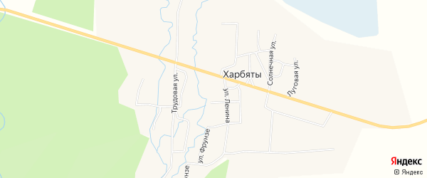 Карта села Харбяты в Бурятии с улицами и номерами домов