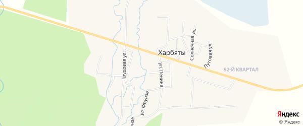 Карта местечка Харбят в Бурятии с улицами и номерами домов