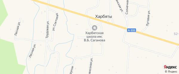 Улица Аюшеева на карте села Харбяты с номерами домов