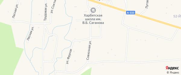 Совхозная улица на карте села Харбяты с номерами домов