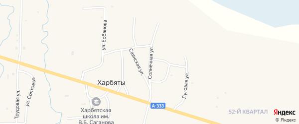 Солнечная улица на карте села Харбяты с номерами домов