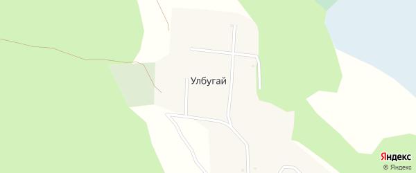 Лесной переулок на карте улуса Улбугая с номерами домов