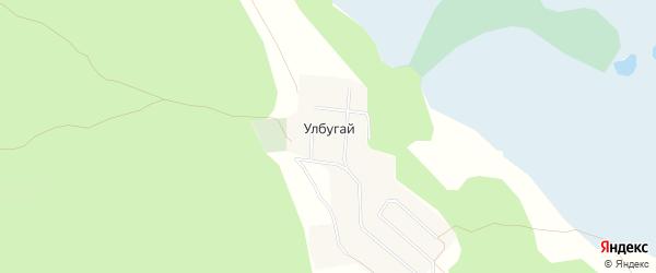 Карта улуса Улбугая в Бурятии с улицами и номерами домов