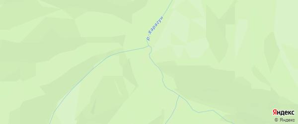 Карта местечка Харагуна в Бурятии с улицами и номерами домов