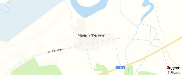 Карта поселка Малого Жемчуга в Бурятии с улицами и номерами домов