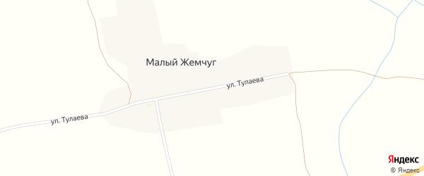 Улица Тулаева на карте поселка Малого Жемчуга с номерами домов