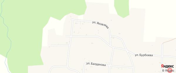 Улица Яковлева на карте села Тагархая с номерами домов
