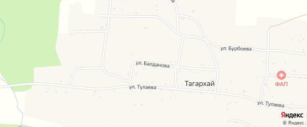 Улица Балданова на карте села Тагархая с номерами домов