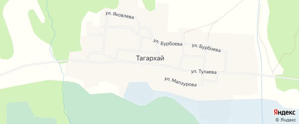 Карта местечка Тагархая в Бурятии с улицами и номерами домов