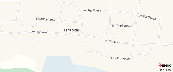 Улица Тулаева на карте села Тагархая с номерами домов