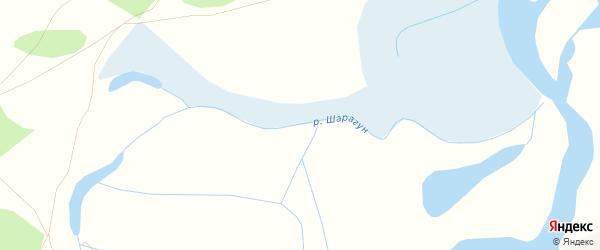 Карта местечка Шарагуна в Бурятии с улицами и номерами домов