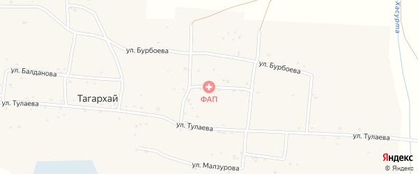 Улица Бурбоева на карте села Тагархая с номерами домов
