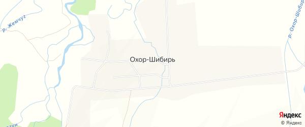 Карта улуса Охор-Шибирь в Бурятии с улицами и номерами домов