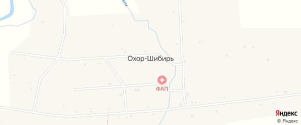Совхозная улица на карте улуса Охор-Шибирь с номерами домов