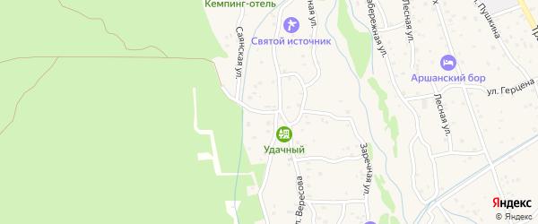 Улица Вересова на карте поселка Аршана с номерами домов