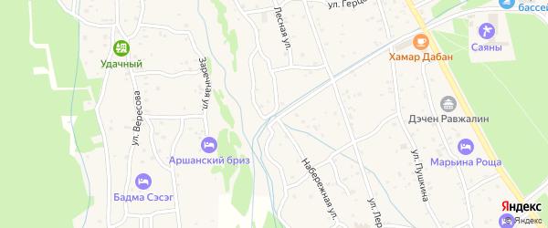 Набережная улица на карте поселка Аршана с номерами домов