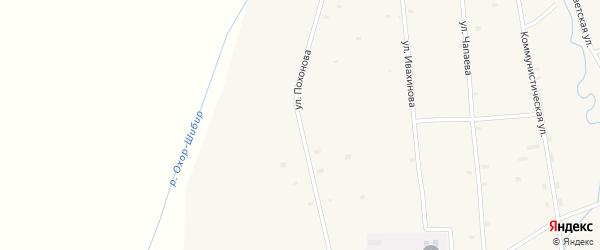 Улица Похонова на карте села Жемчуга с номерами домов