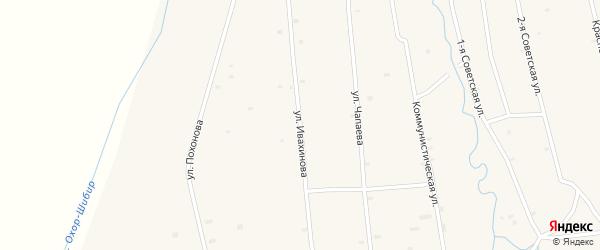 Улица Ивахинова на карте села Жемчуга с номерами домов