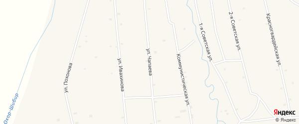 Улица Чапаева на карте села Жемчуга с номерами домов
