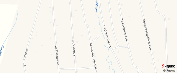 Саянская улица на карте села Жемчуга с номерами домов