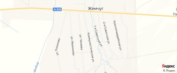 Местность Нарагун на карте села Жемчуга с номерами домов