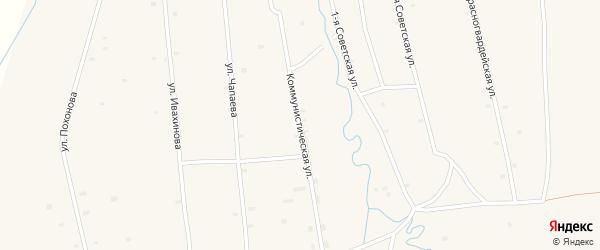 Коммунистическая улица на карте села Жемчуга с номерами домов
